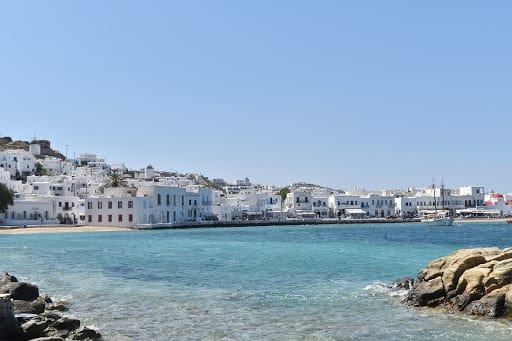 Astonishing coast of Mykonos Greece