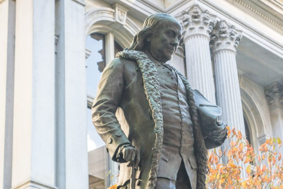 Ben Franklin Statue Boston via Canva