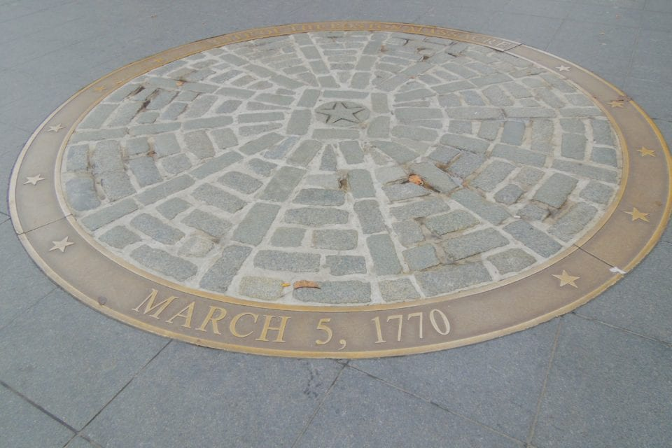 Boston Massacre site via Canva
