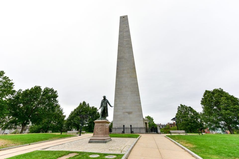 Bunker Hill Monument Boston via Canva-2