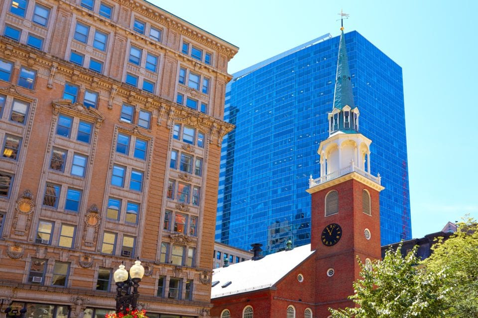 Old South Meeting House Boston via Canva