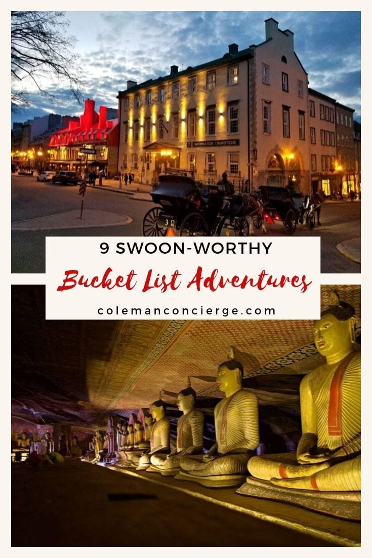 Bucket List Adventures Pinterest pin