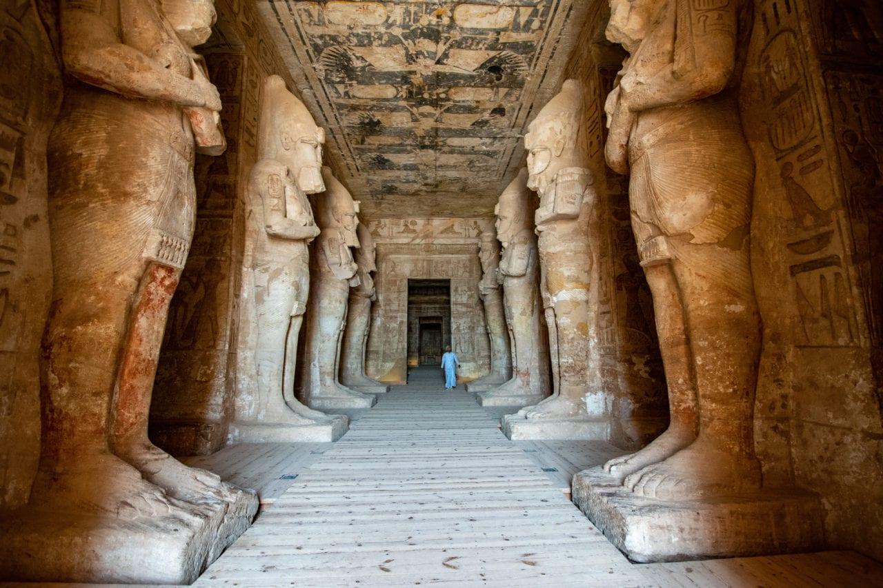 The interior of Abu Simbel