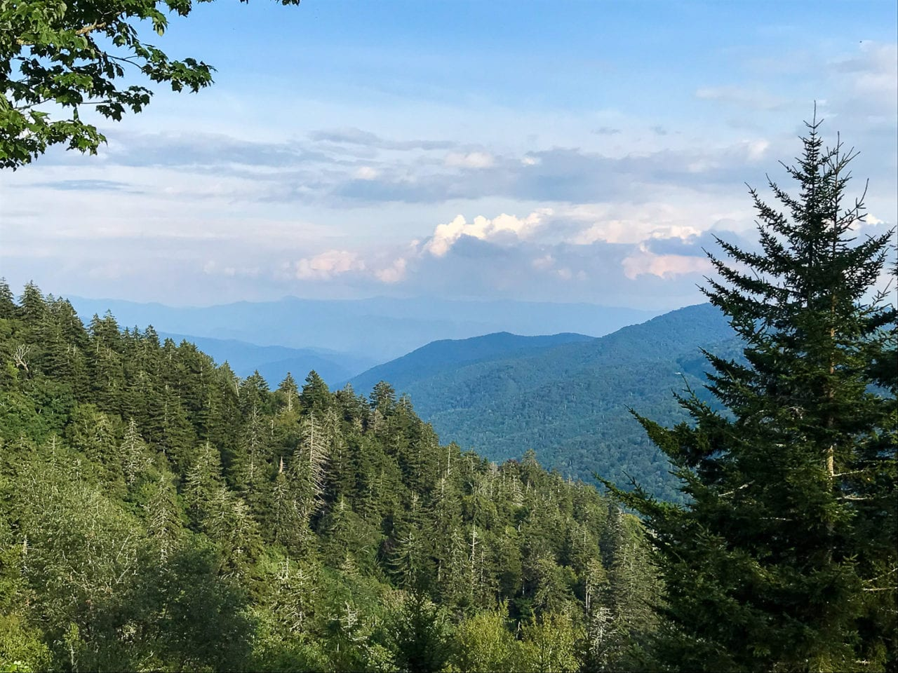A view of early fall in the Smoky Mountains via Jessica at unearththevoyage.com.