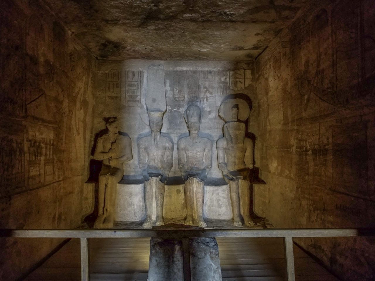 Sunbeams inside Abu Simbel