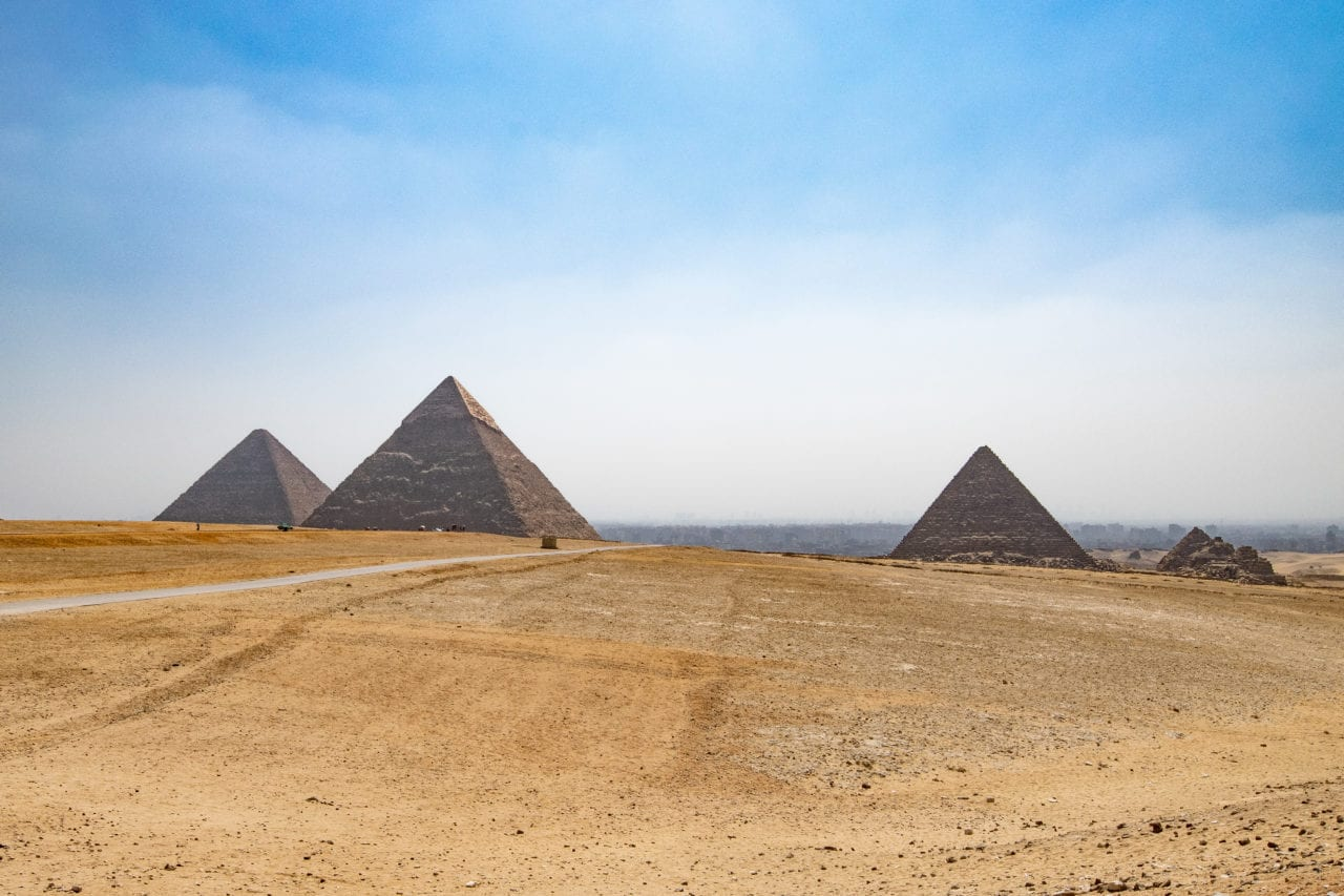 Pyramid complex on the Giza Plateau