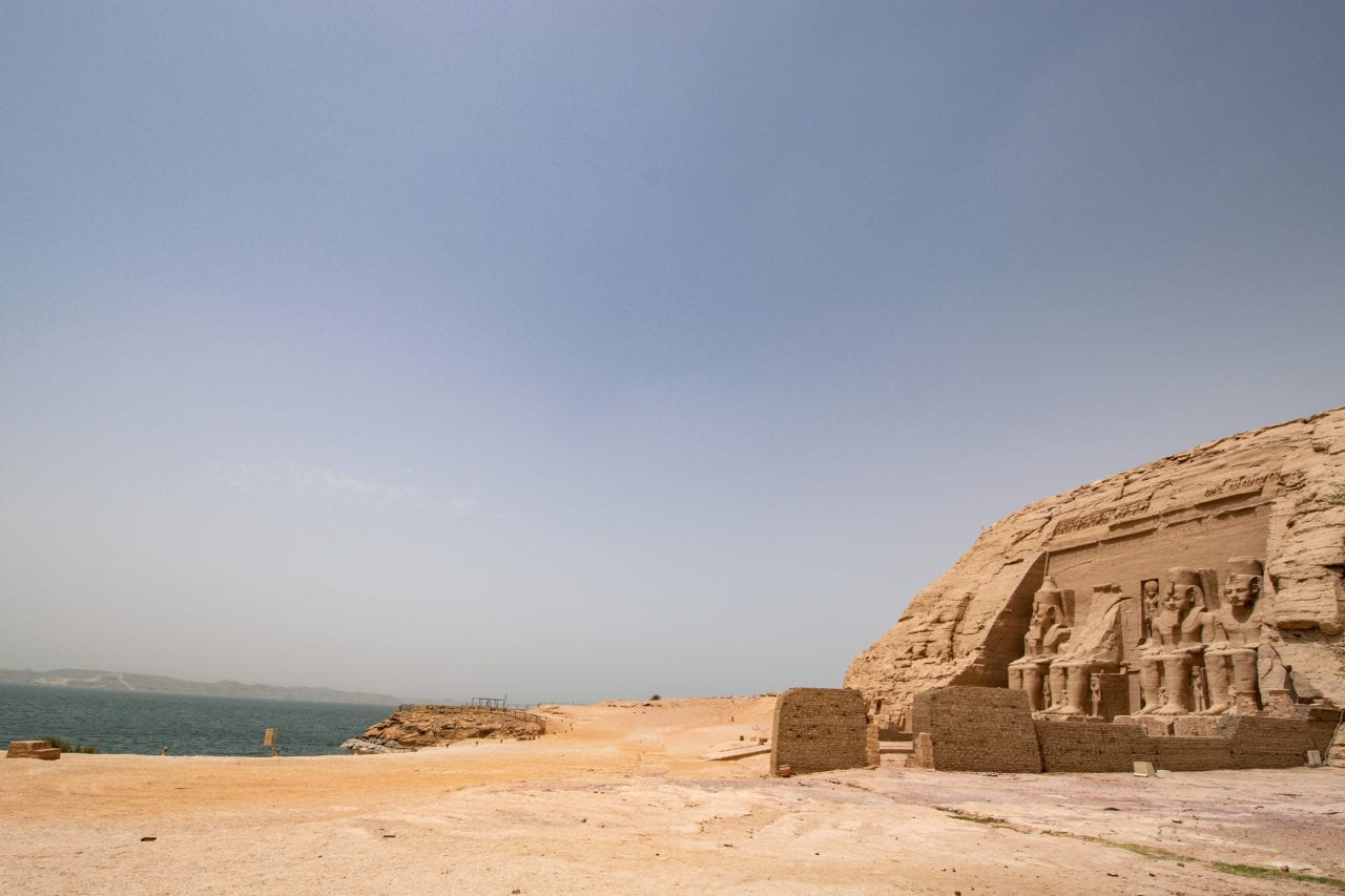 Abu Simbel on the shores of Lake Nasser