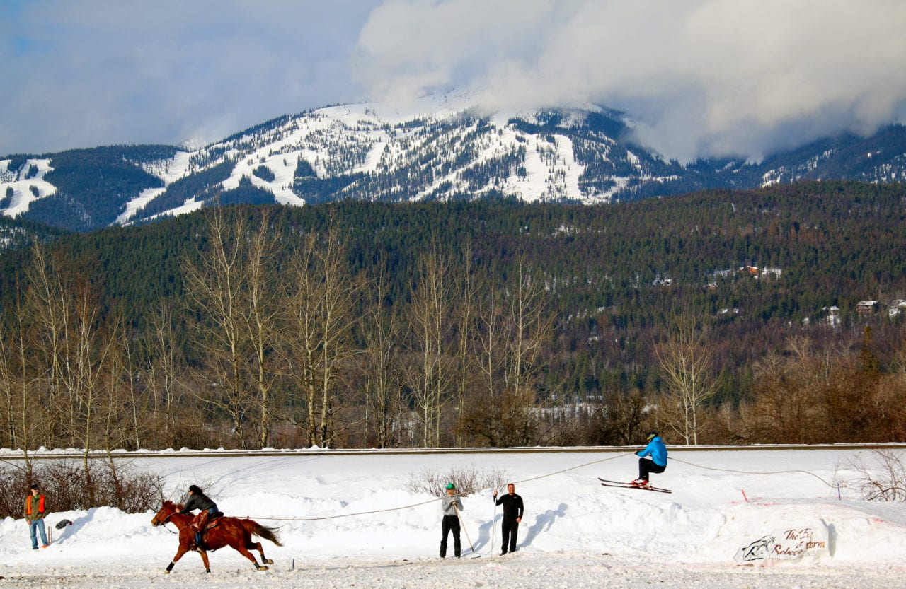 Skijoring Whitefish Winter Carnival photo by Brian Schott/Explore Whitefish