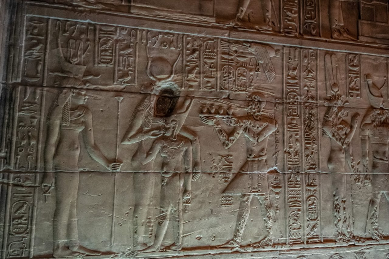 Temple of Philae - defaced depiction of Isis