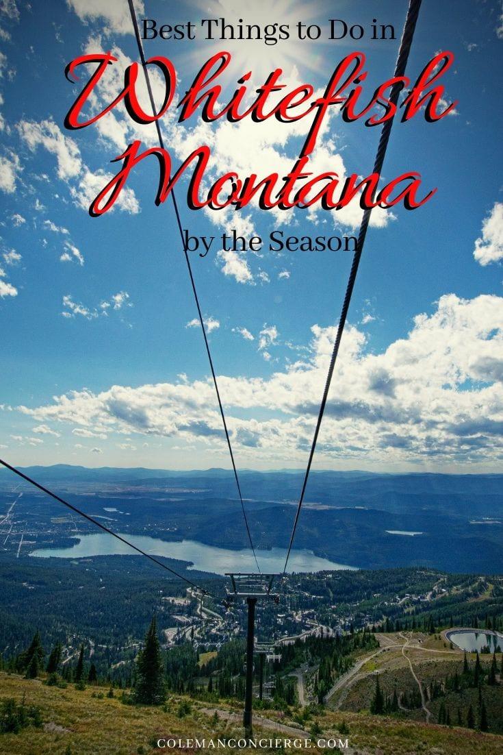 Whitefish Montana from Whitefish Mountain Resort