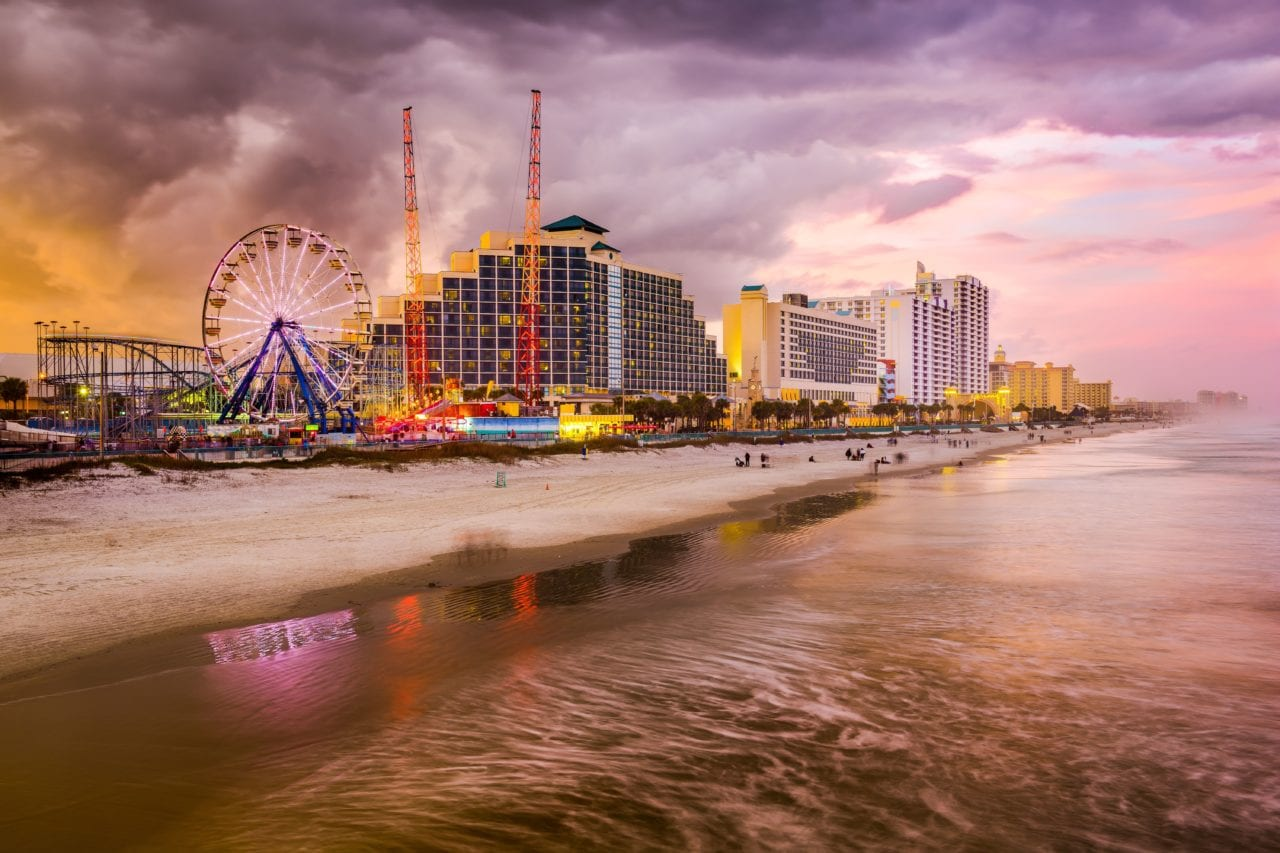 Daytona Beach at Sunset via Canva