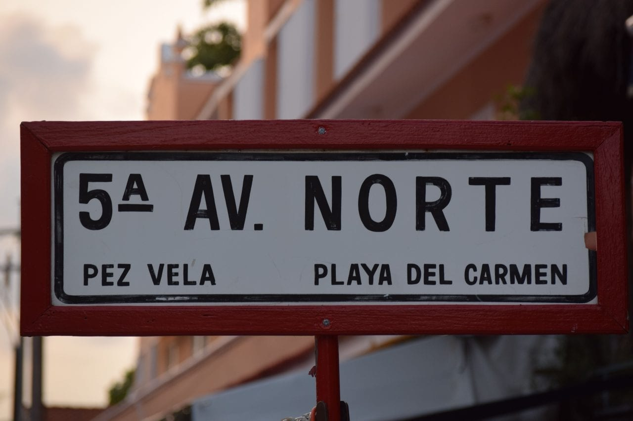 5th Avenue in Playa del Carmen via Canva