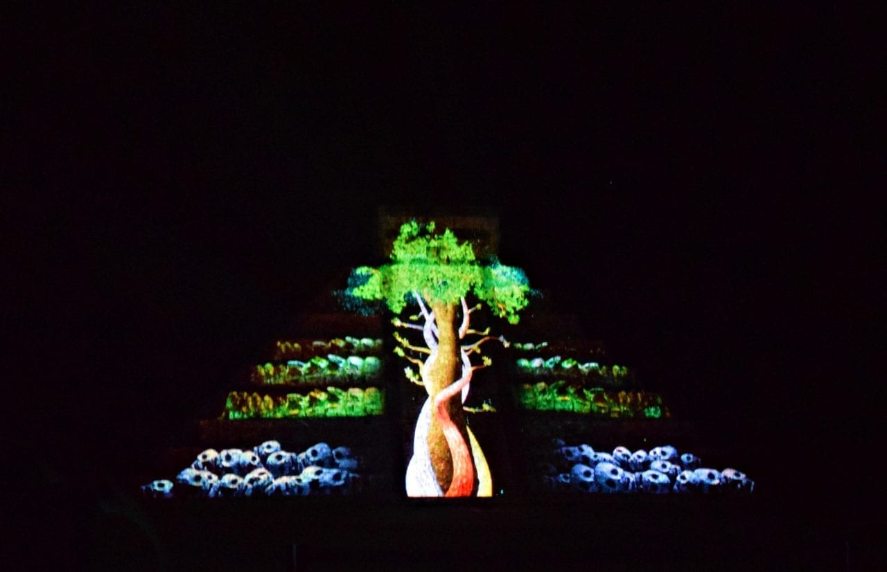 Chichen Itza Laser light show