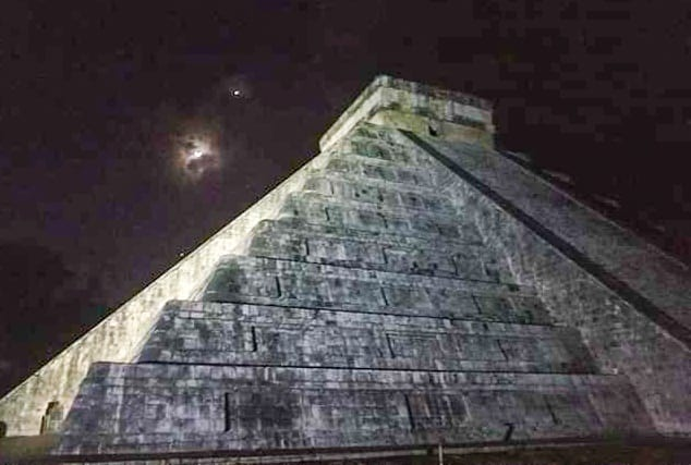 El Castillo at Night