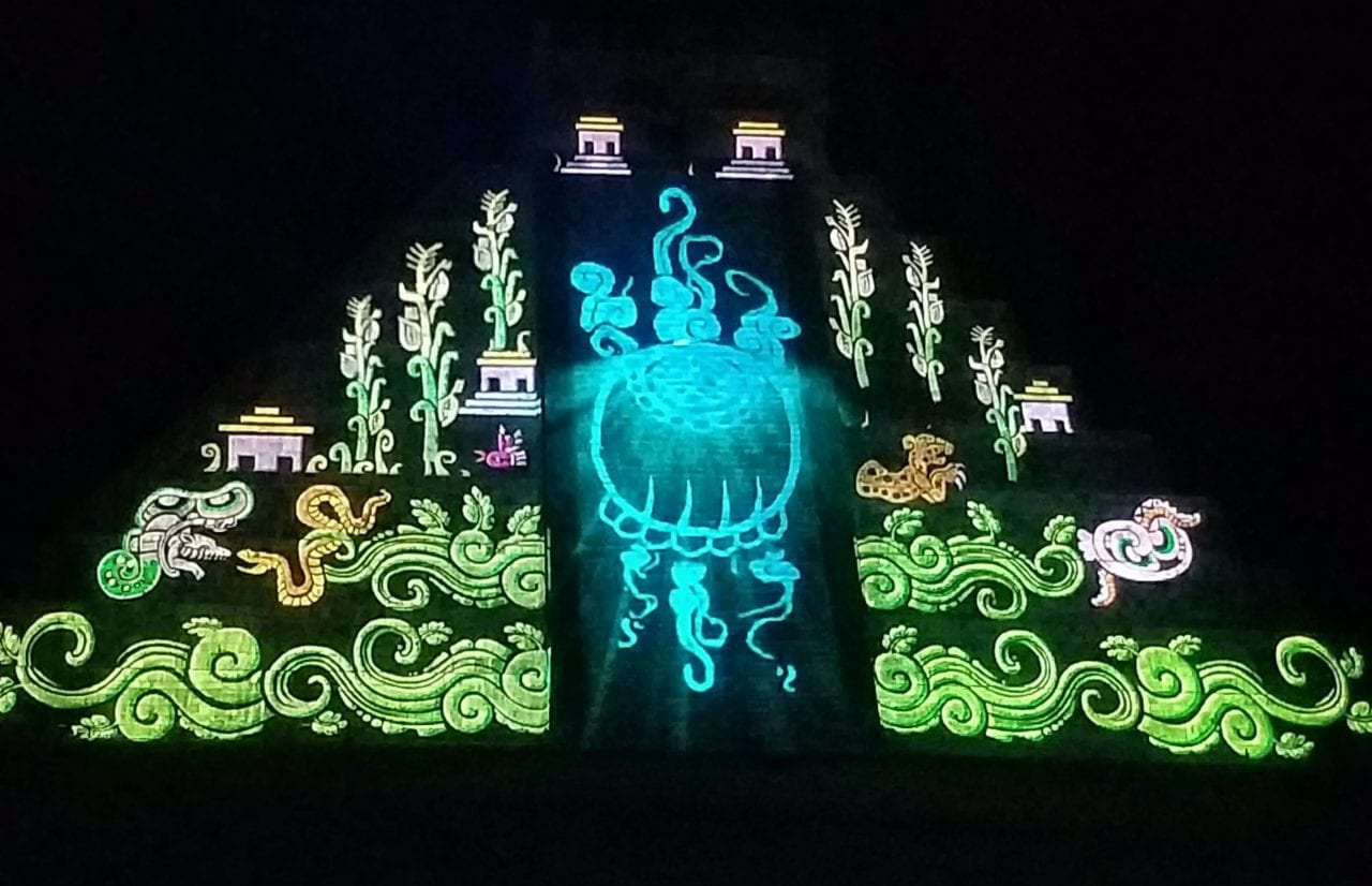 El Castillo at the Chichen Itza sound and light show