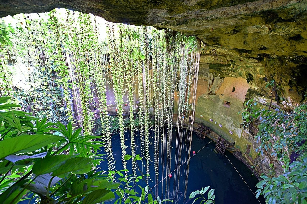 Ik-Kil Cenote from above
