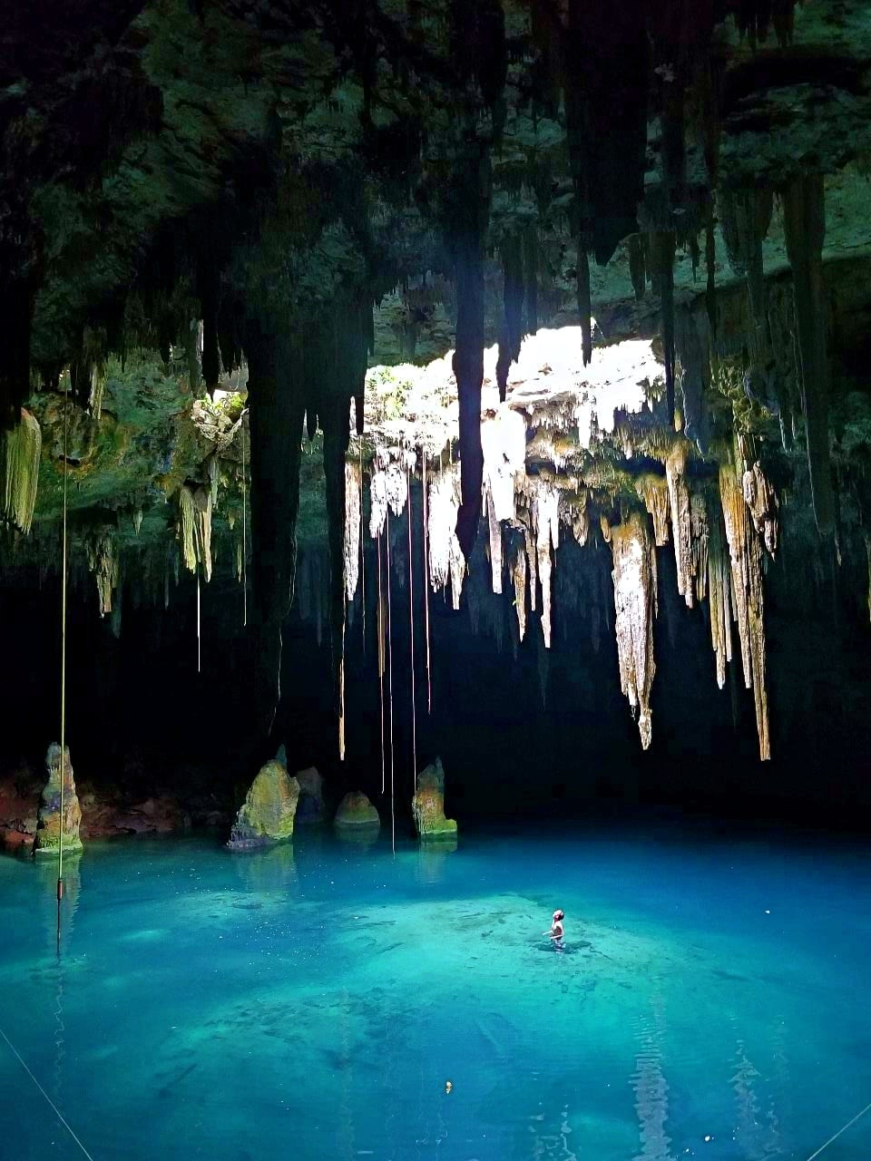 Man-in-Cenote-Xcanahaltun