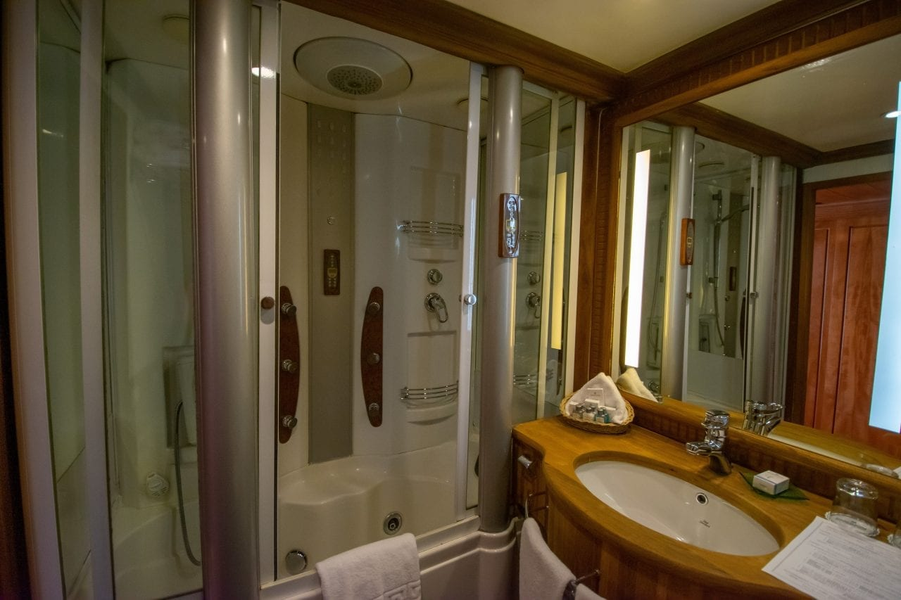 Cruise ship deluxe shower