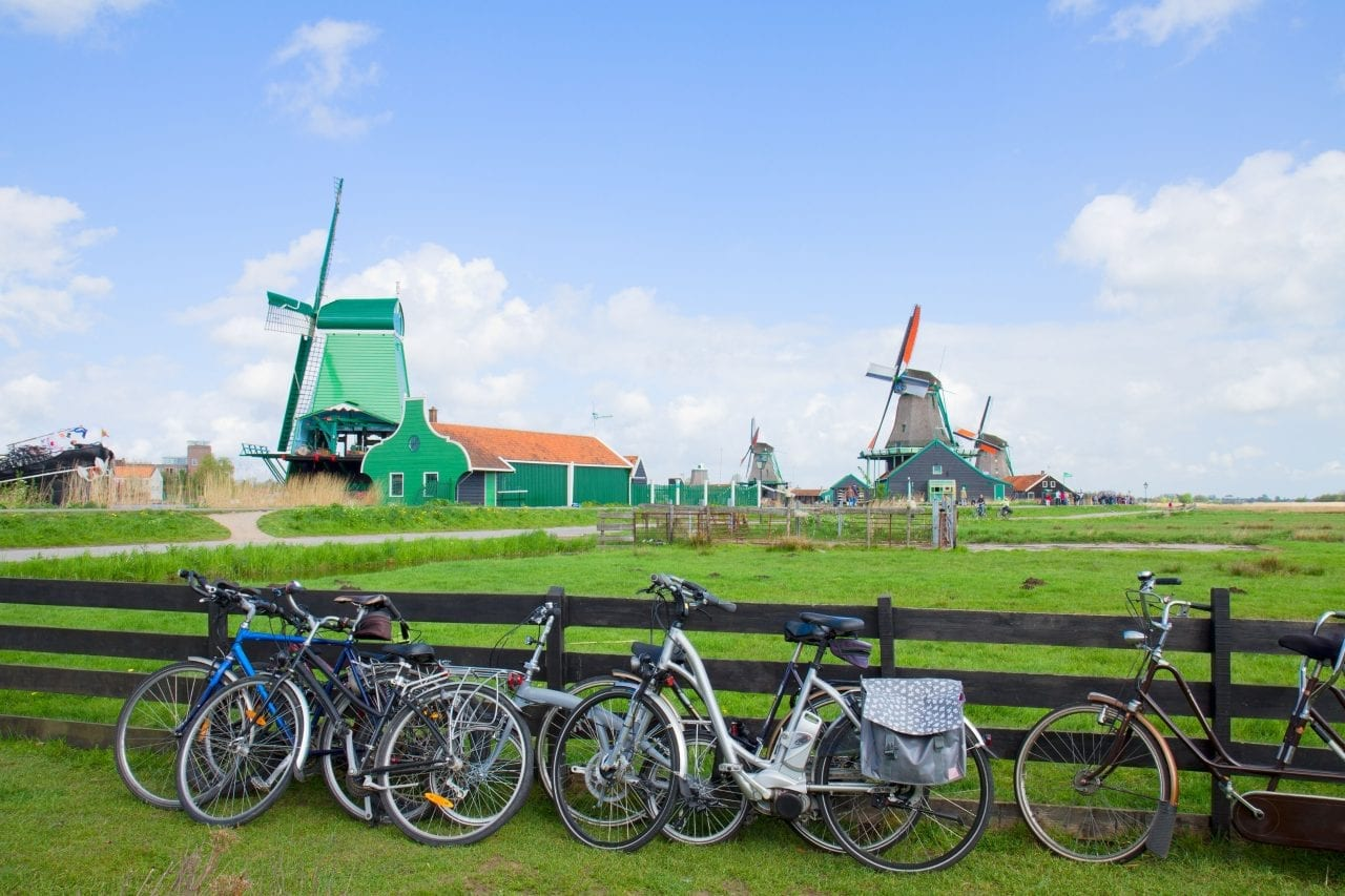 Biking through Holland via Canva