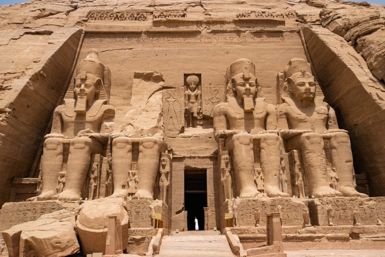 Great Temple at Abu SImbel (all the statues are Ramesses II)