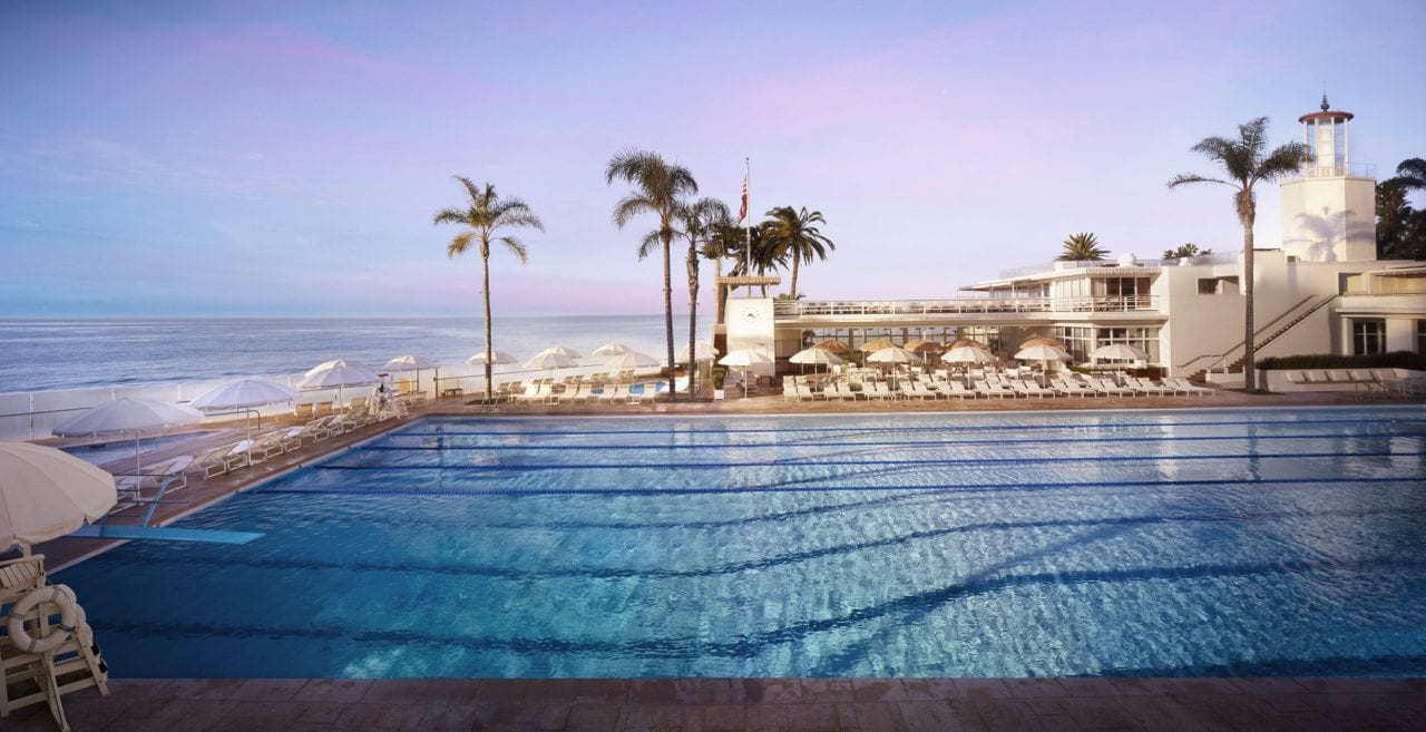 Romantic pool and view at the 4-Seasons Santa Barbara