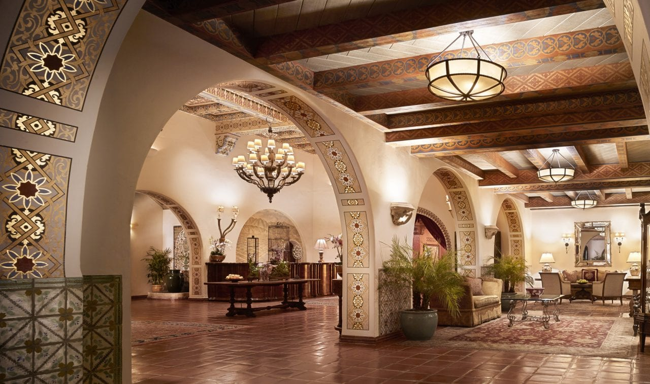 Grand Entrance to the 4-Seasons Santa Barbara