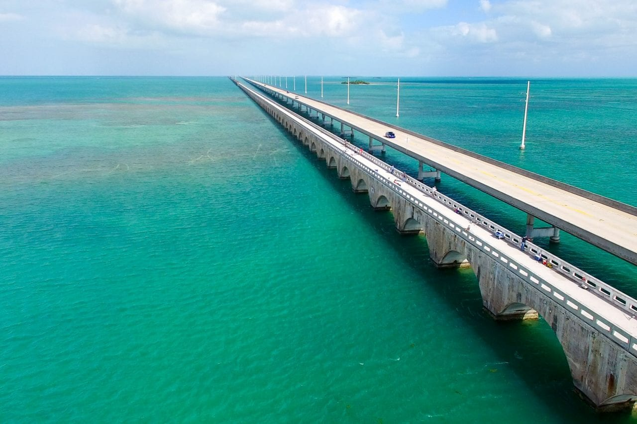 One of the bridges you'll cross biking from Key Largo to Key West