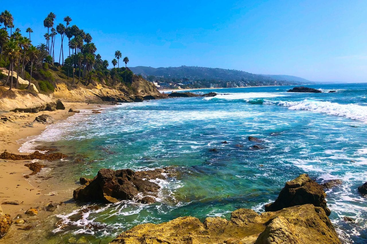 Romantic escapes to Laguna Beach via Canva