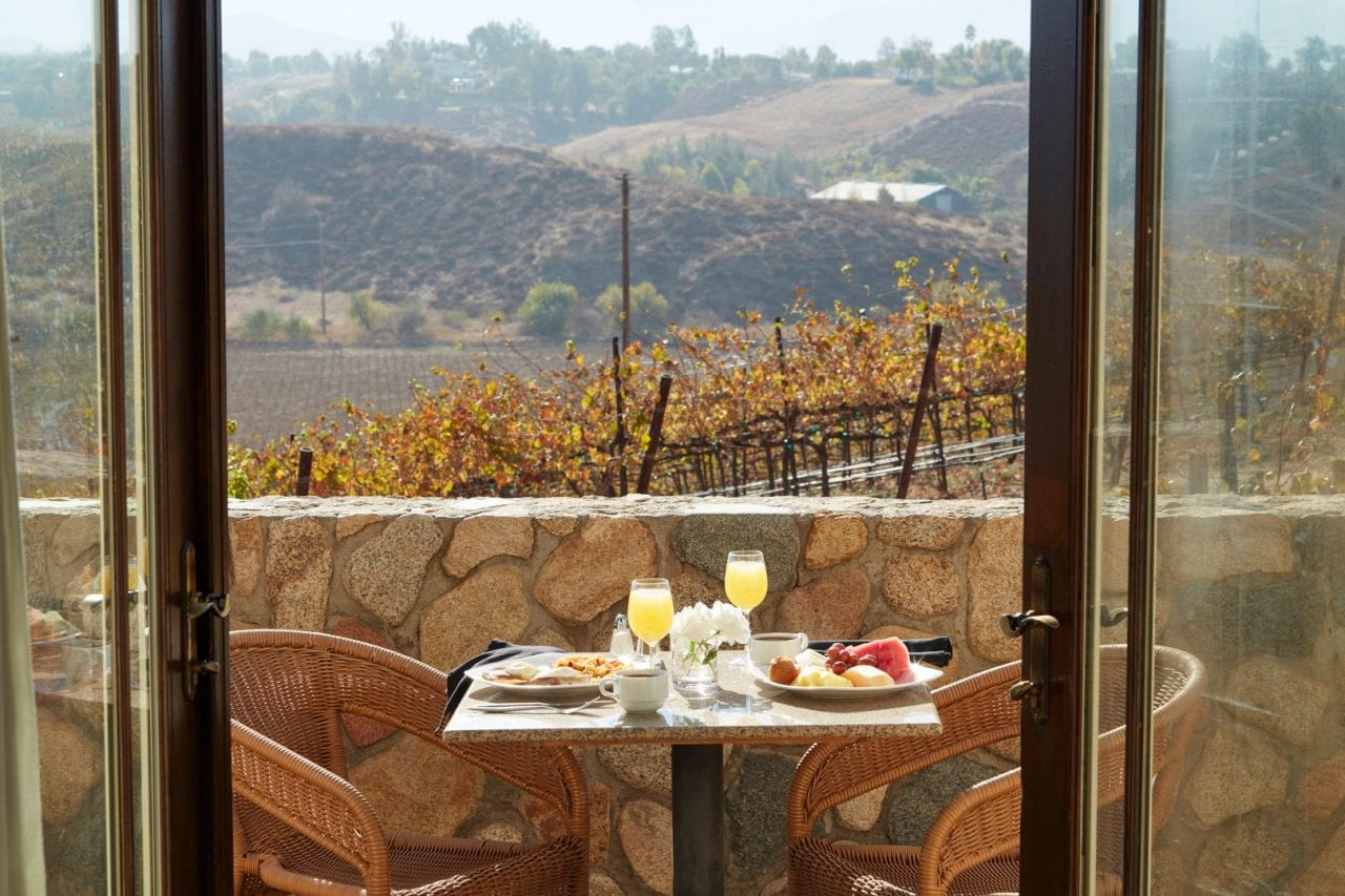 South Coast Winery Resort & Spa romantic breakfast