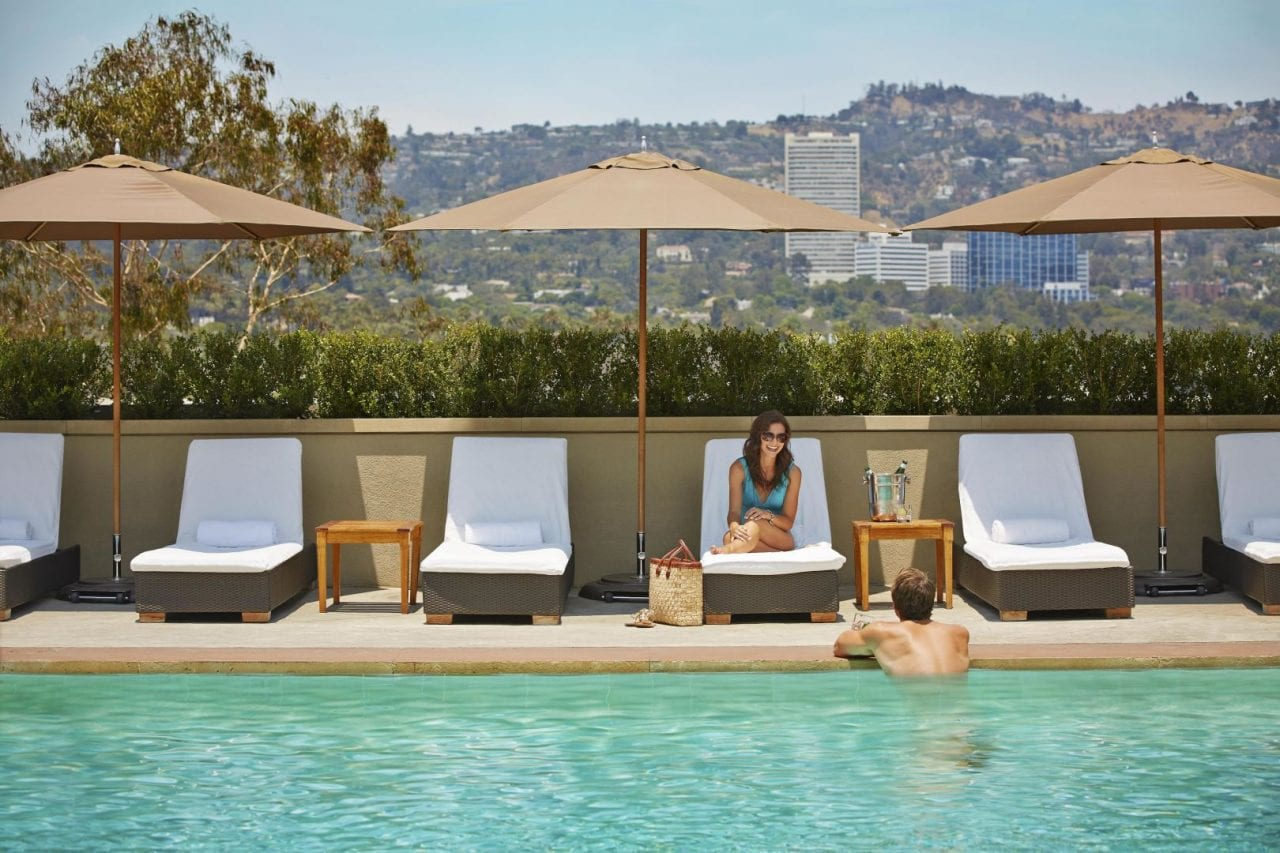 Viceroy L'Ermitage Beverly Hills rooftop pool