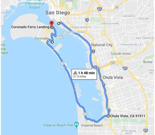Bayshore Bikeway / Silver Strand Trail Map