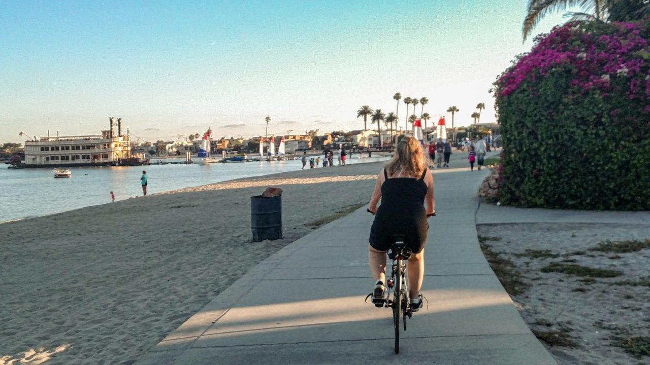 Jenn Biking Bayside Walk