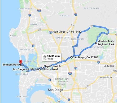 Mission Trails Climb Map
