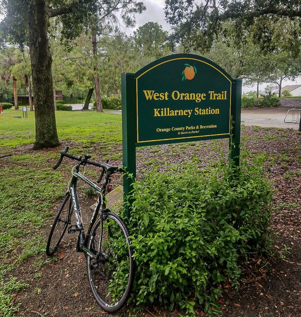 Biking the West Orange Trail