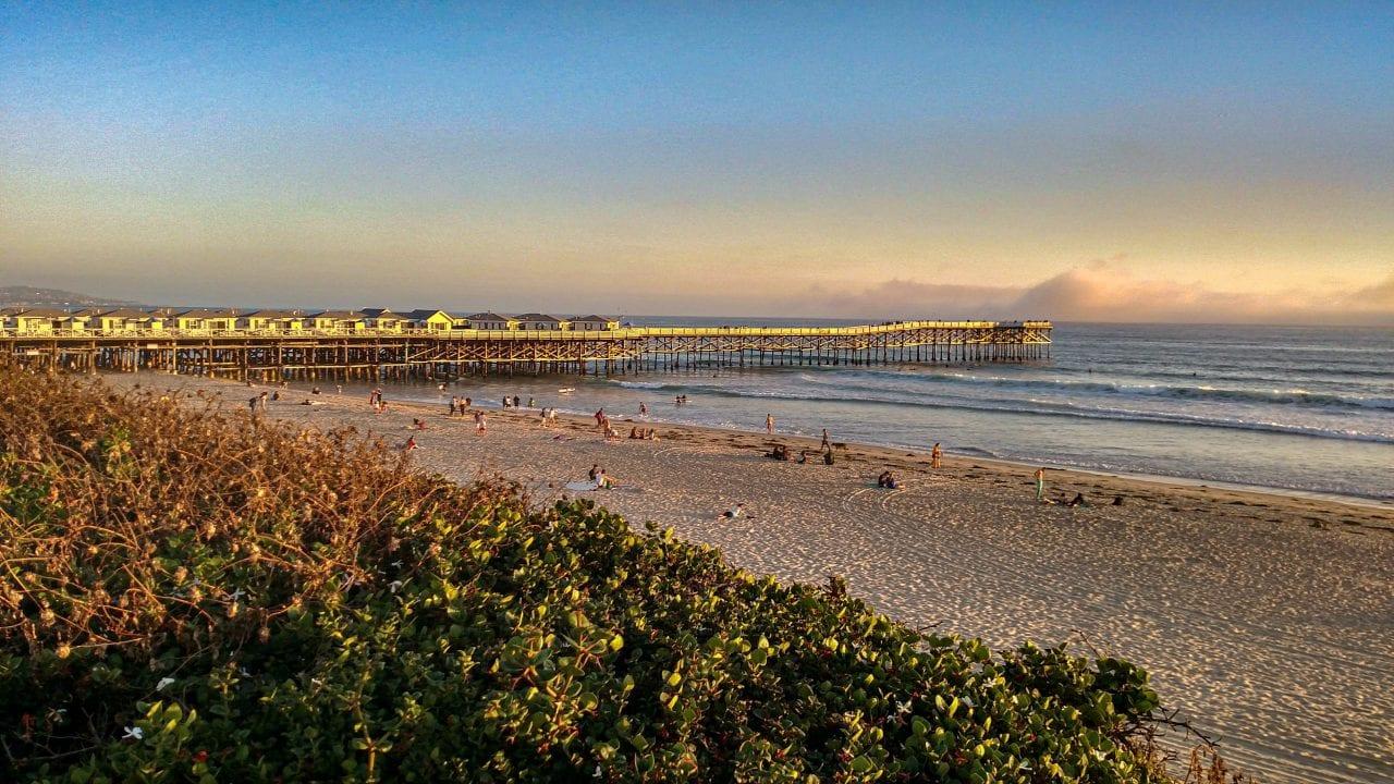 Crystal Pier from the Boardwalk