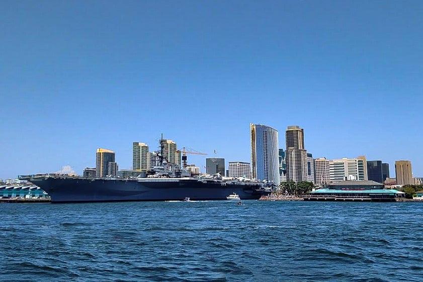 USS Midway from Coronado Ferry