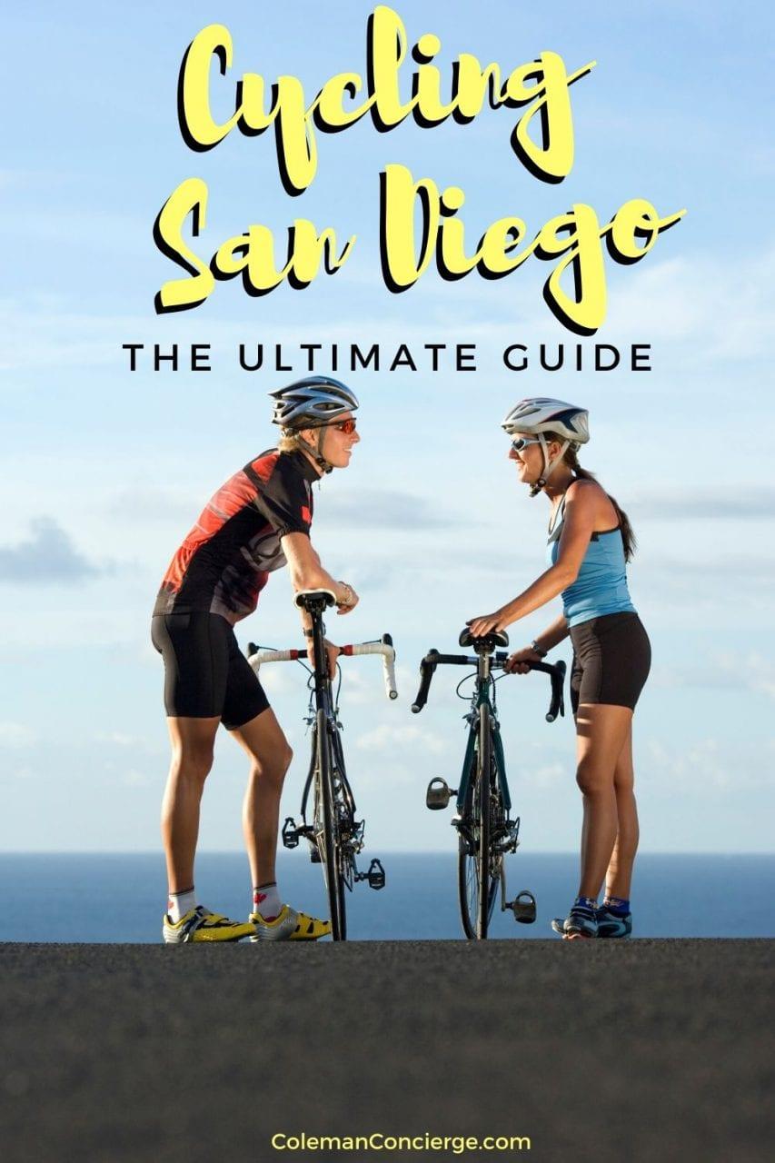 Couple biking in San Diego