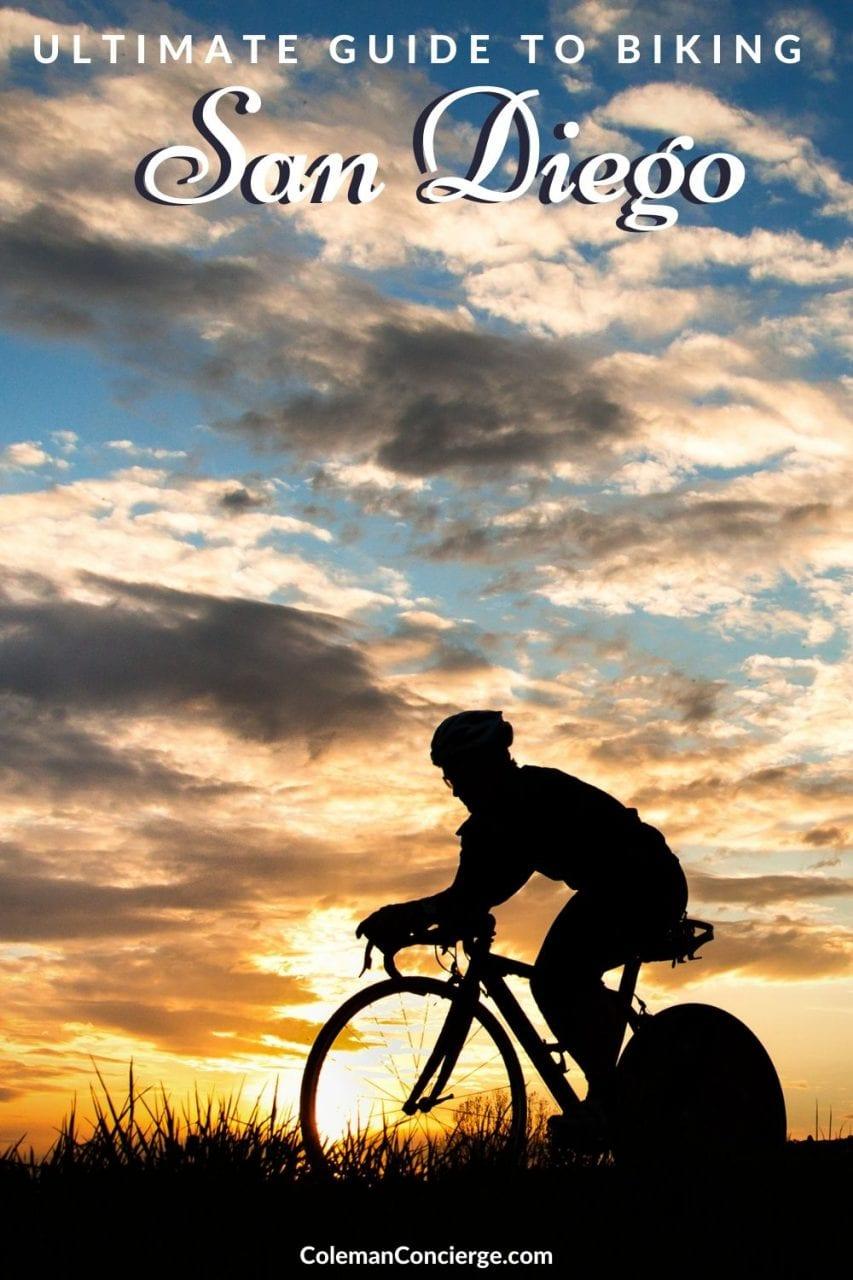 Biker at Sunset San Diego