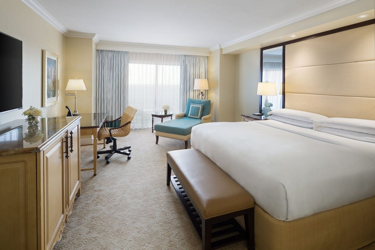 A standard king room from the RItz-Carlton Orlando