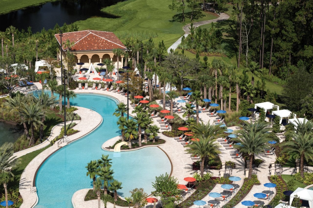 The Four Seasons Orlando has incredible on premise activities like their pools and golf course