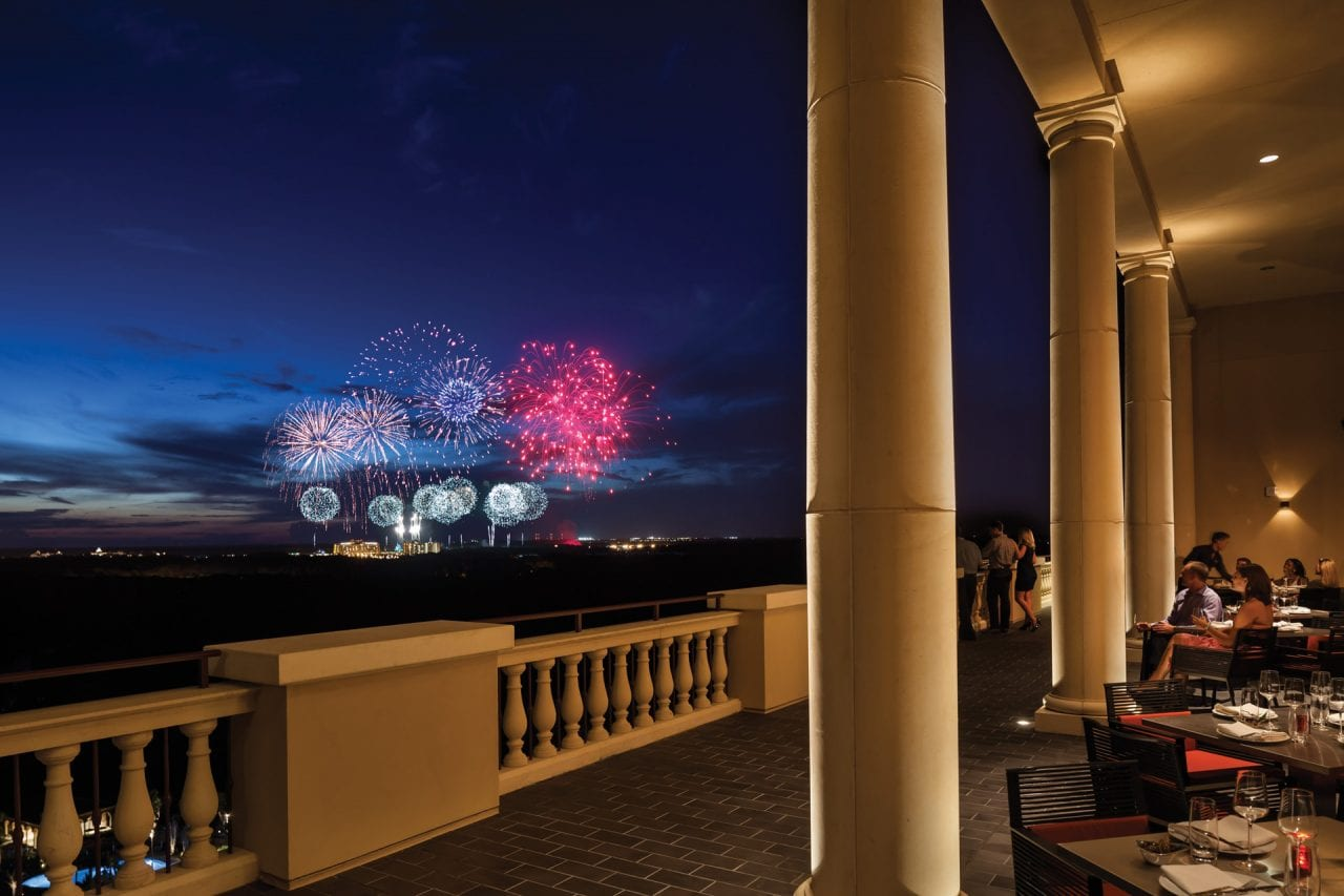The Four Seasons is close enough to Disney to see the Fireworks