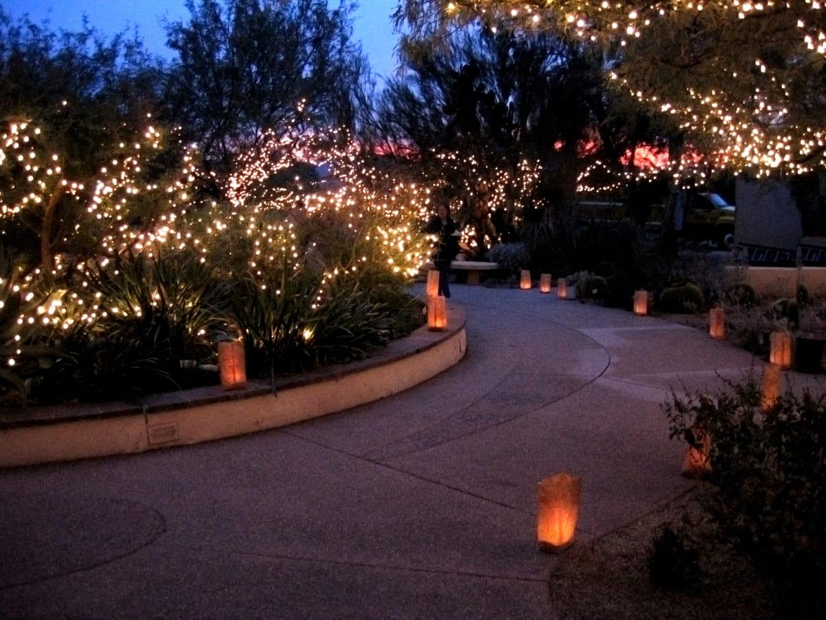Tohono Chul Holiday Lights Via Visit Tucson