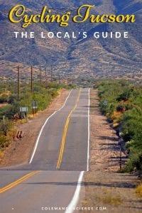 Empty road in Tucson