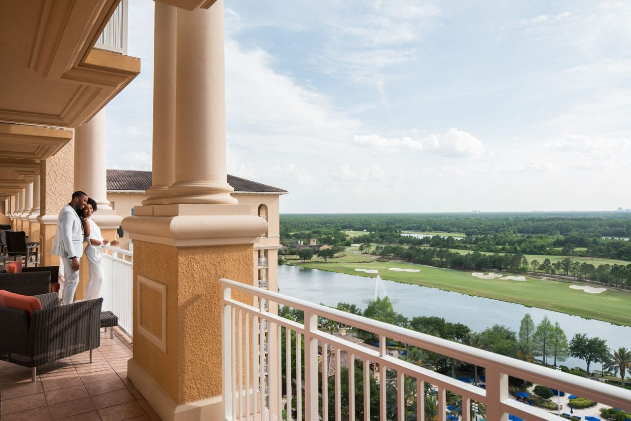A view from the RItz-Carlton Orlando hotel
