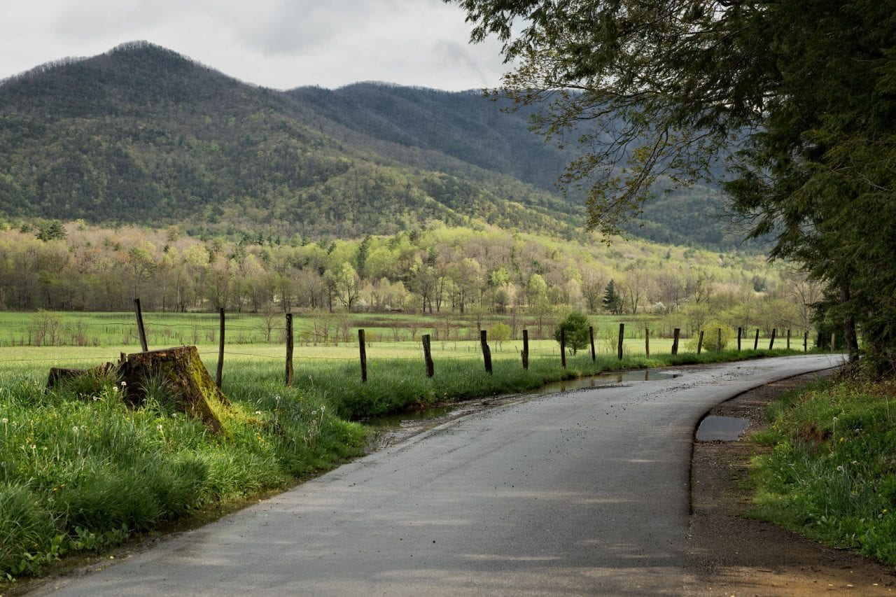 Cades Cove road via Canva