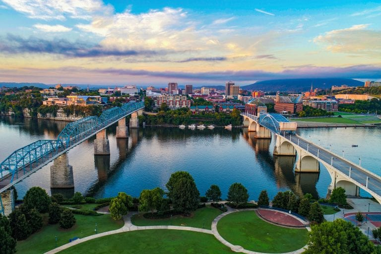 Chattanooga from above via Canva