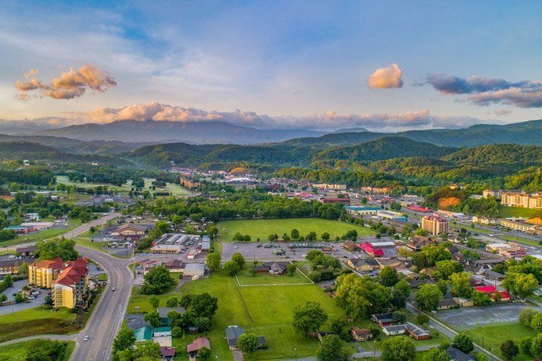 Sevierville from above