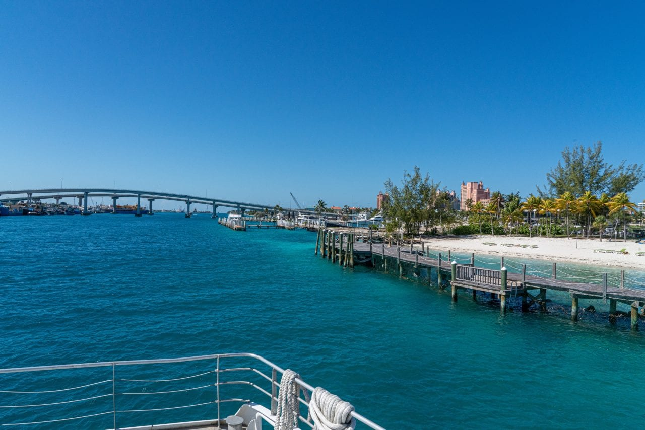 Pullin out of Nassau Harbor