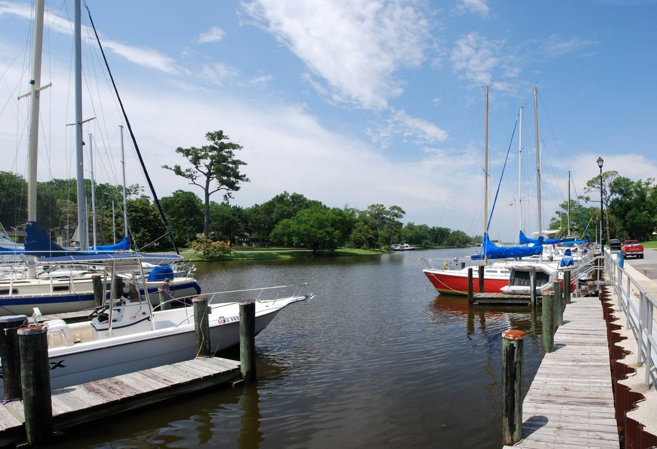 Beautiful Pascagoula Harbor in Pascagoula, Mississippi by Visit Mississippi via Flickr