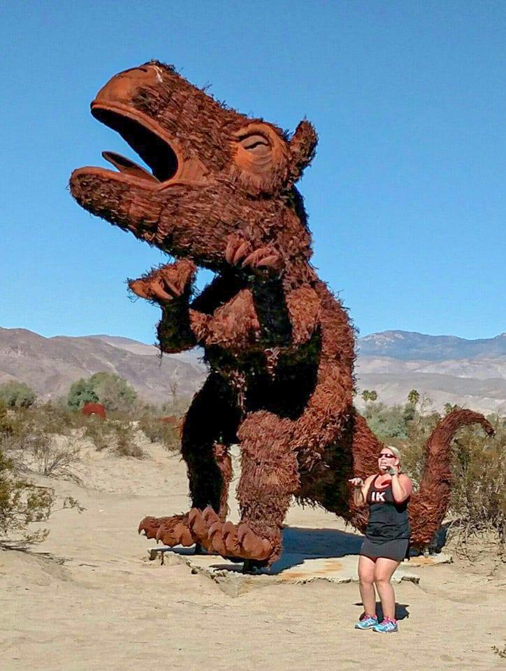 Jenn and her spirit sculpture